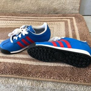 EUC adidas blue white and red size 12.5